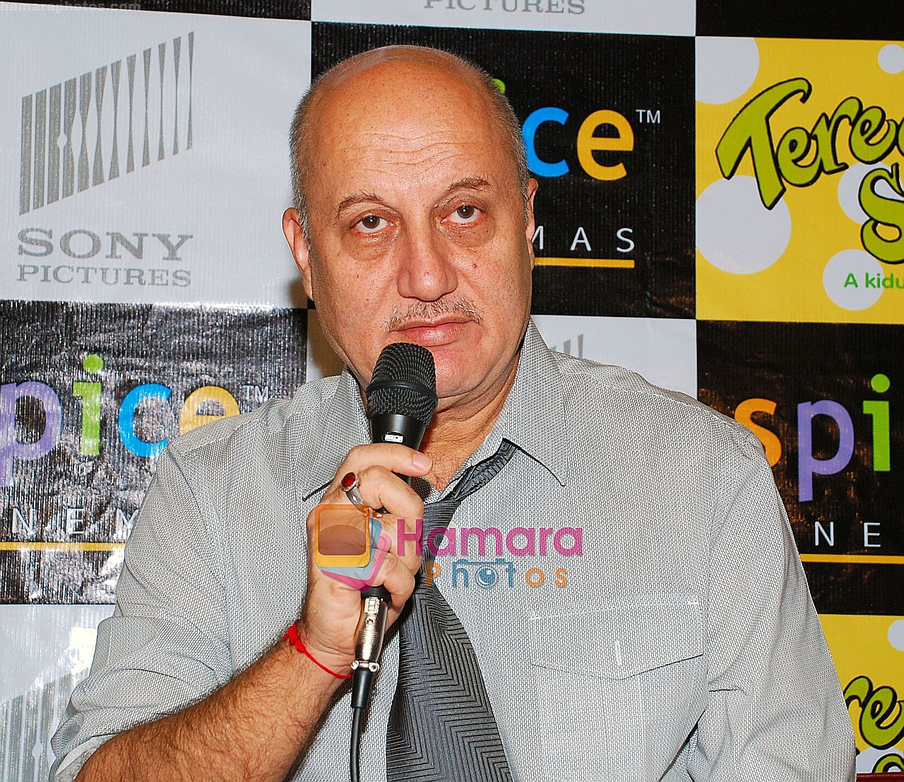 Anupam Kher at the Press Conference and Premiere of film Teree Sang in Spice World, Noida on 6th Aug 2009