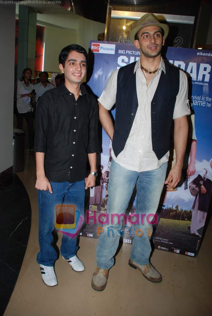 Parzun Dastur, Arunoday Singh at Sikandar promotional event in PVR on 17th Aug 2009