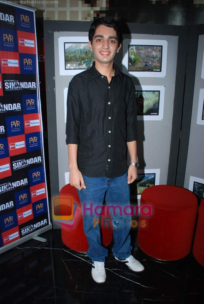 Parzun Dastur at Sikandar promotional event in PVR on 17th Aug 2009