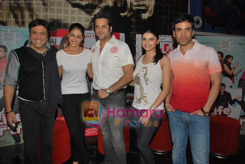 Tusshar Kapoor, Prachi Desai, Genelia D Souza, Fardeen Khan, Govinda at the Special screening of Life Partner in PVR on 17th Aug 2009