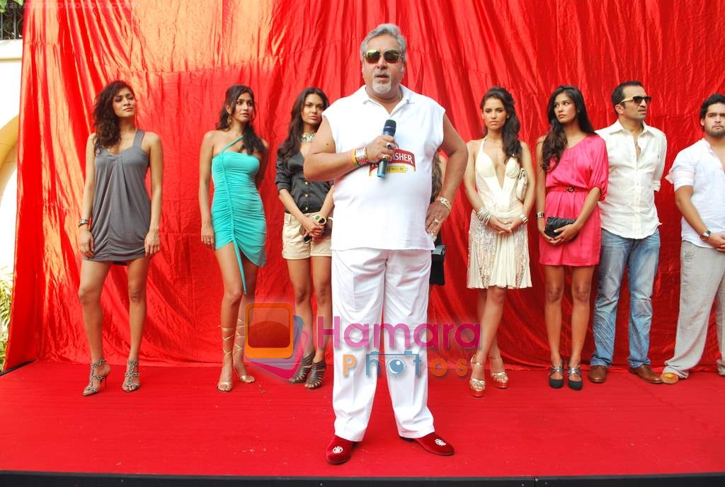 Vijay Mallya at Kingfisher calendar launch in Napeansea Road, Mallya's residence on 20th Dec 2009