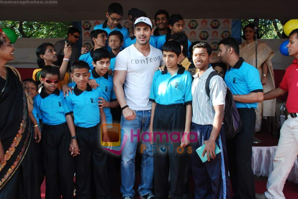 John Abraham attends Sports day for spcial children in Jamnabai Narsee school on 24th Dec 2009