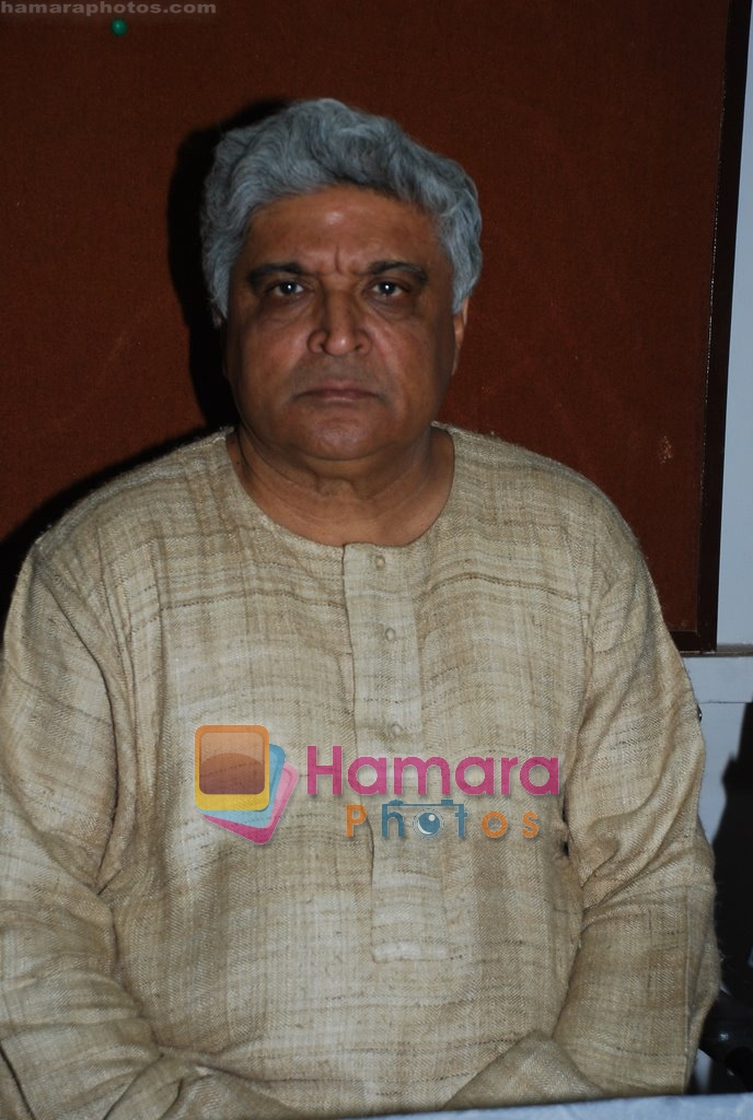 Javed Akhtar at Musicians thank Indian Govt for Royalties in Press Club on 29th Dec 2009