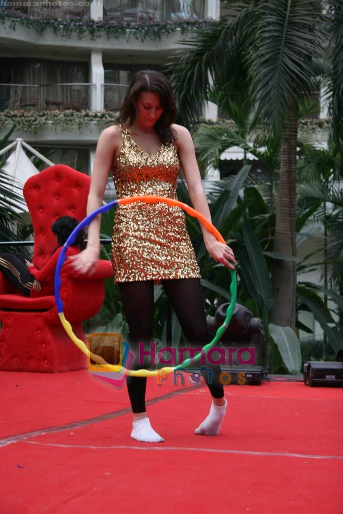 at the practises for Seduction 2010 show in Sahara Star on 30th Dec 2009