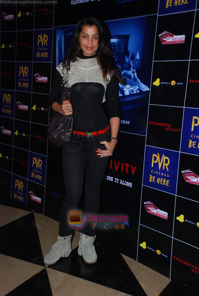 Mugdha Godse at Paranormal Activity film premiere in PVR on 5th Jan 2010