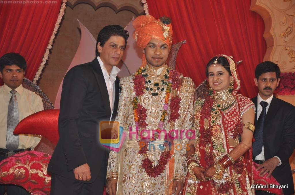 Shahrukh Khan At Saurabh Dhoot And Radhika Singals Wedding In Turf Club On 16th Feb 2010