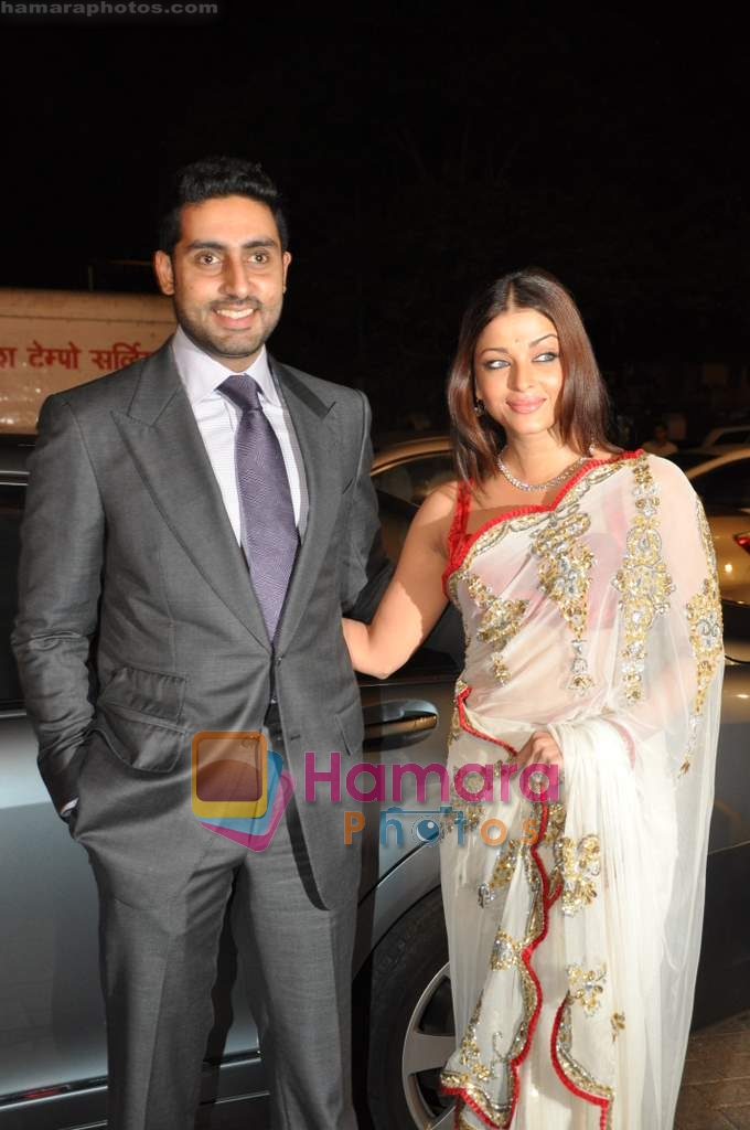 Aishwarya Rai Bachchan Abhishek At Nandita Mahtanis Brother Bharats Wedding Reception In Mahalaxmi Race Course On 19th Feb 2010