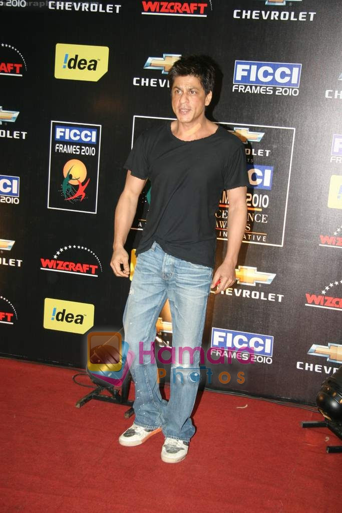 Shahrukh Khan at FICCI frames final day in Rennaisance, Powai on 18th March 2010