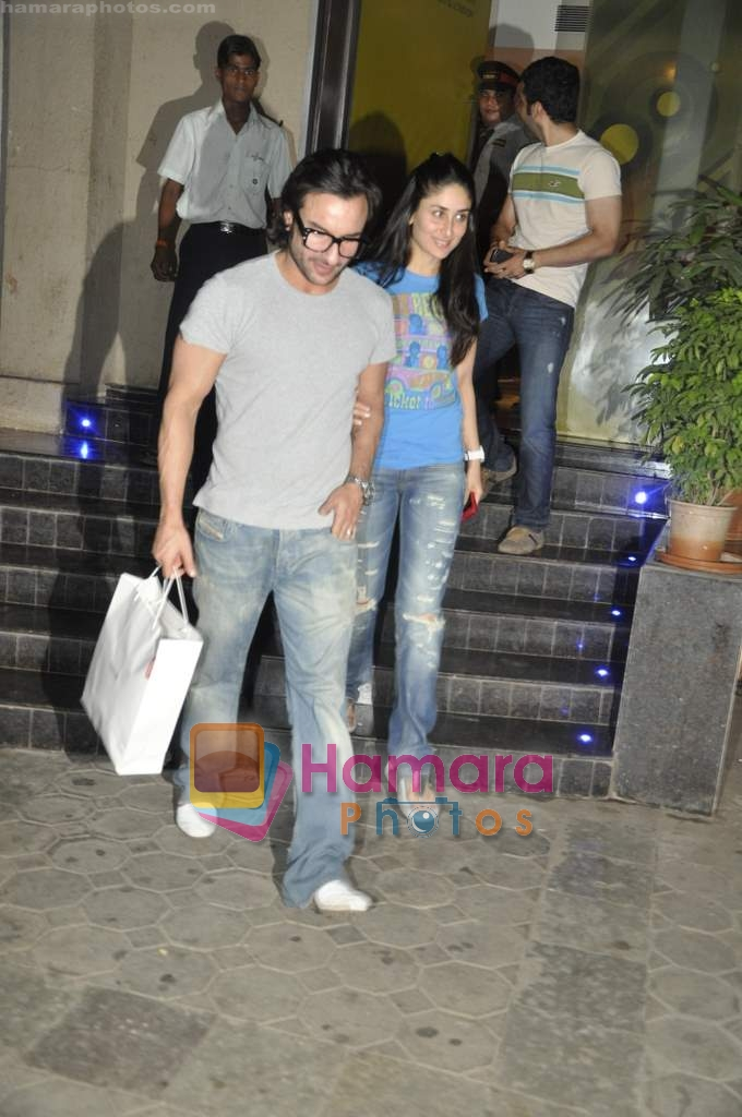 Saif Ali Khan, Kareena Kapoor at the special screening of Love Sex Aur Dhokha hosted by Tusshar Kapoor in Pixion, Bandra on 18th March 2010