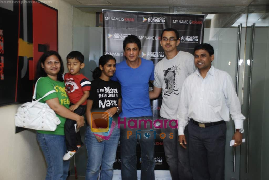 Shahrukh Khan at Reebok and bollywoodhungama.com meets the My Name Is Khan online contest winners in Mannat on 23rd March 2010