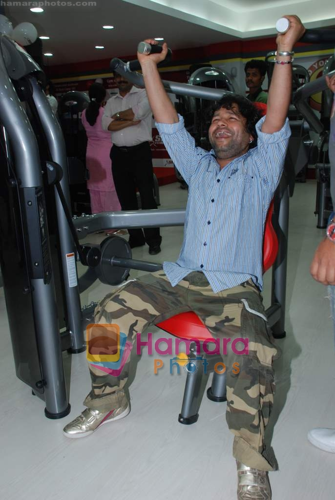 Kailash Kher at the launch of  Snap 24-7 Gym in Malad, Near Croma on 29th March 2010