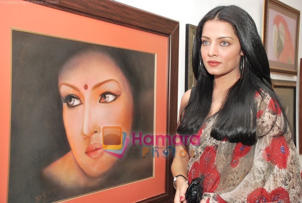 Celina Jaitley at Egyptian Diplomat's bollywood Exhibition in Nehru Centre, Mumbai on 30th March 2010