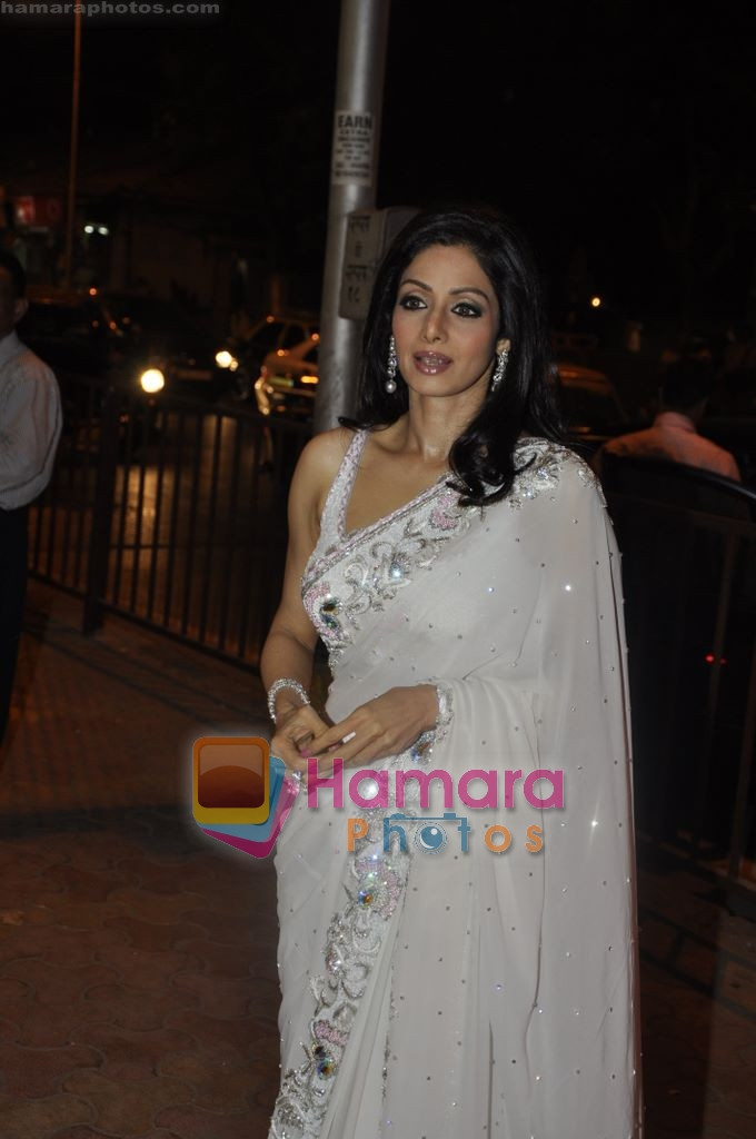 Sridevi at Maheka Mirpuri's Summer white collection launch in Prabhadevi, Mumbai on 30th March 2010