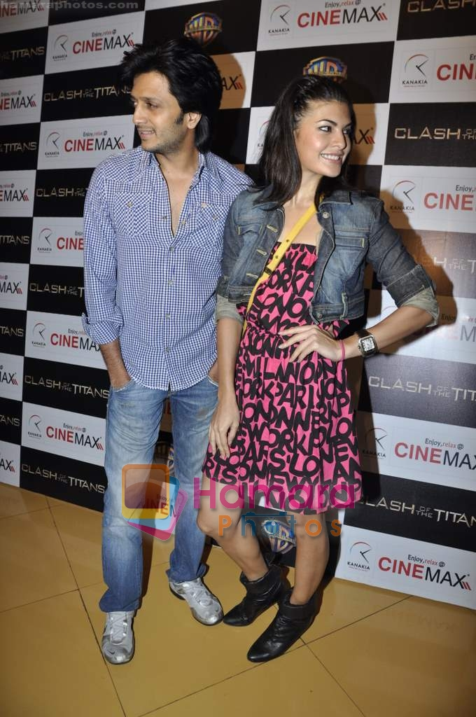 Ritesh Deshmukh, Jacqueline Fernandez at Clash of the Titans premiere in Cinemax on 31st March 2010