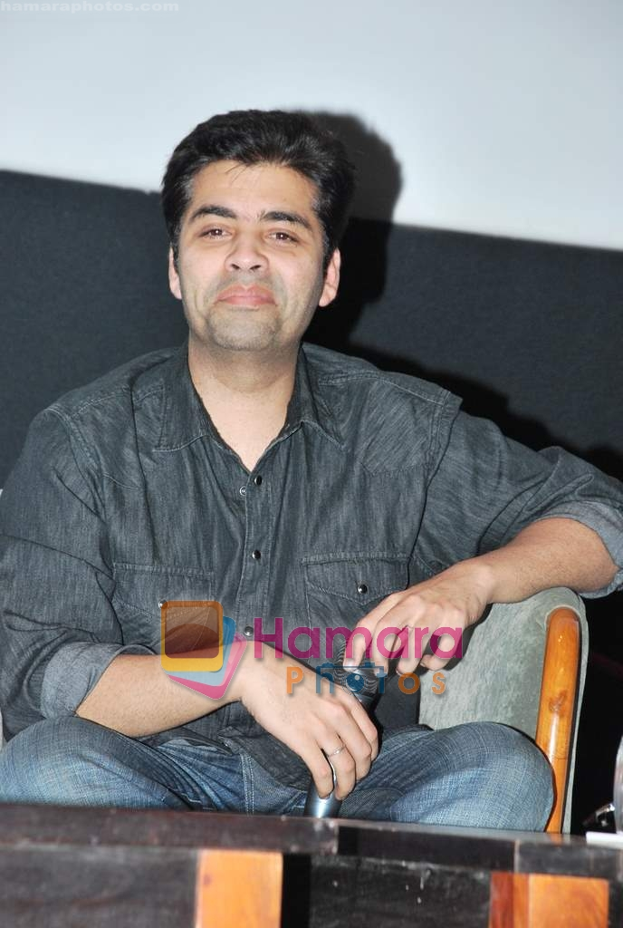 Karan Johar at Whistling Woods in Goregaon on 31st March 2010