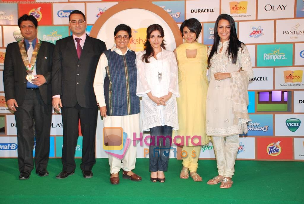 Soha Ali Khan, Gul Panag, Neha Dhupia, Kiran Bedi at Shiksha NGO event in Taj Land's End on 31st March 2010