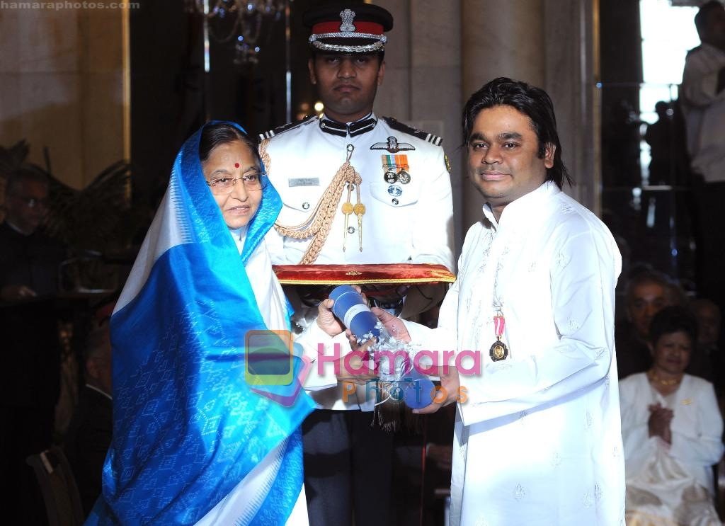 A R Rahman receive Padma Bhushan on 31st March 2010