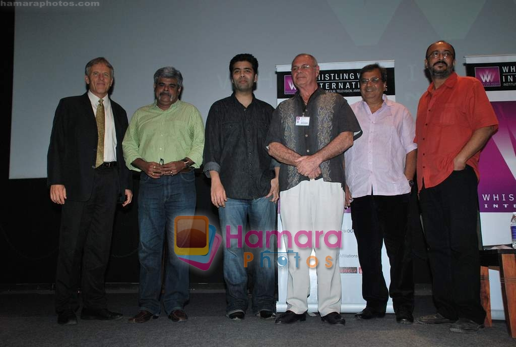 Karan Johar, Subhash Ghai at Whistling Woods in Goregaon on 31st March 2010
