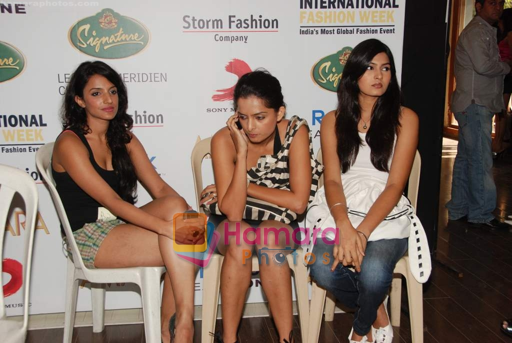 Models at Chennai Fashion Week auditions in Amara on 21st April 2010