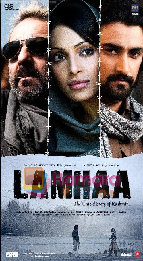 SANJAY DUTT, BIPASHA, KUNAL KAPOOR in the Poster of Lamhaa ...