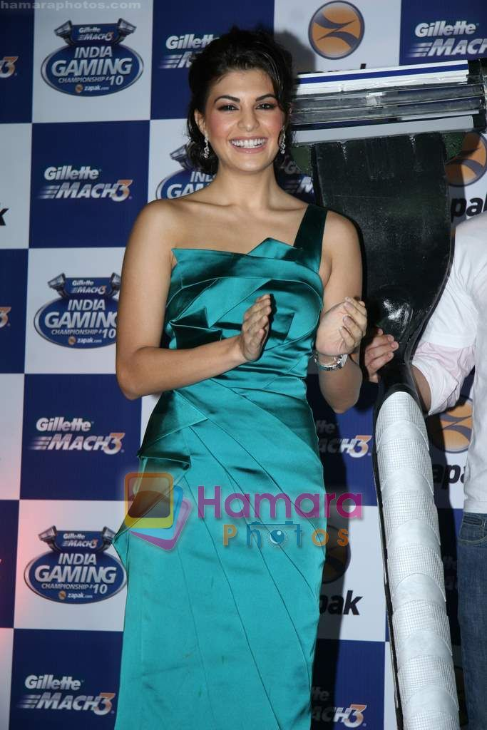 Jacqueline Fernandez at Gillette Mach3 India Gaming Championship 2010 in Vadala on 29th July 2010