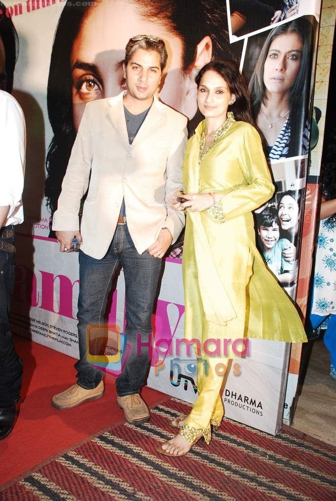 Varun Badola, Rajeshwari Sachdev at We Are Family special premiere in Cinemax on 30th Aug 2010