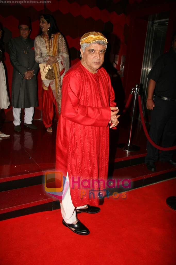 Javed Akhtar at Shabana Azmi's 60th birthday bash in Juhu, Mumbai on 18th Sept 2010