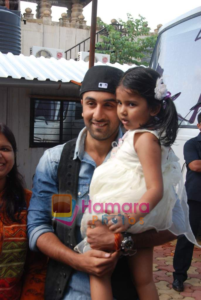 Ranbir Kapoor on the sets of India's Got Talent  in Film City on 18th Sept 2010