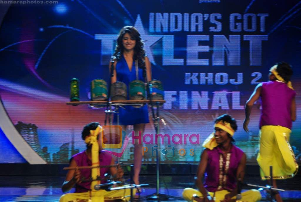Priyanka Chopra on the sets of India's Got Talent  in Film City on 18th Sept 2010