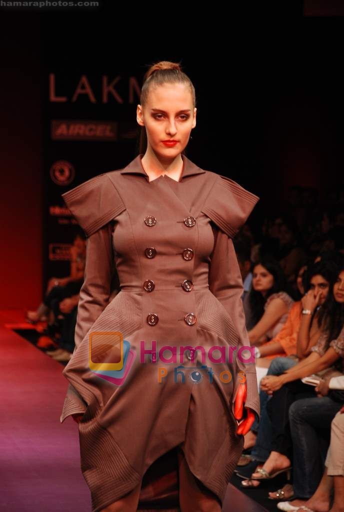 Model walks the ramp for Arjun Saluja Show at Lakme Winter fashion week day 2 on 18th Sept 2010