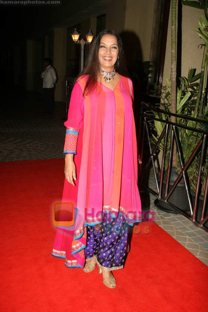 Shabana Azmi at Shabana Azmi's 60th birthday bash in Juhu, Mumbai on 18th Sept 2010