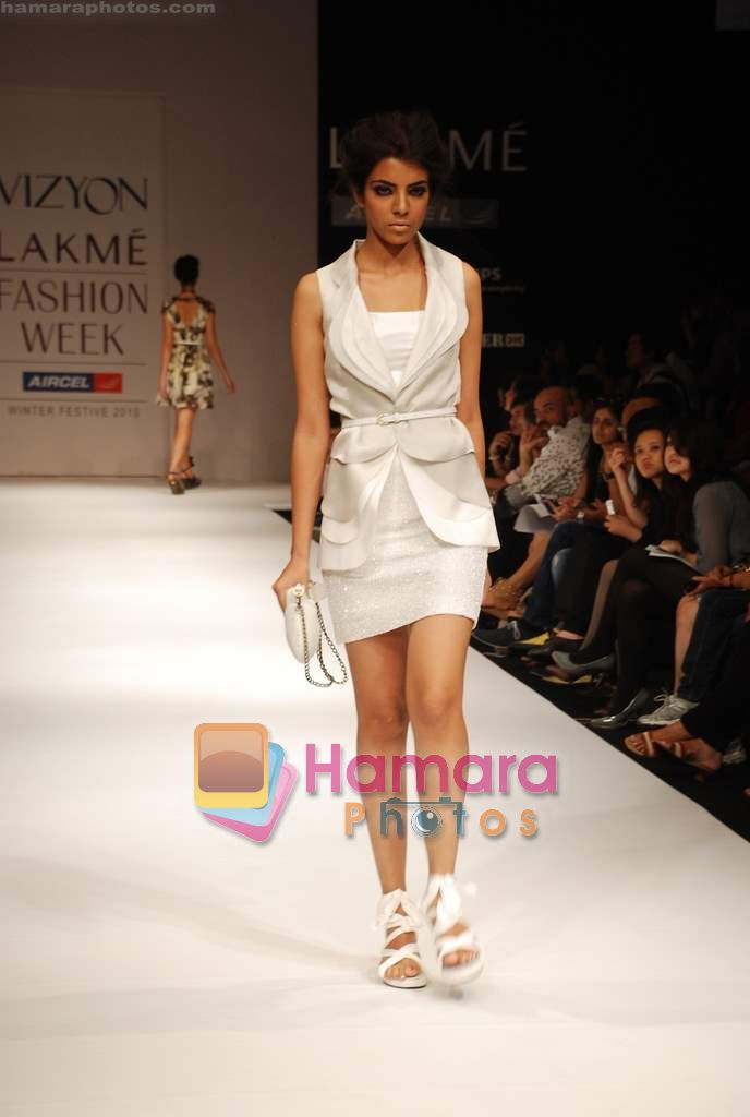 Model walks the ramp for Sailex NG Show at Lakme Winter fashion week day 2 on 18th Sept 2010