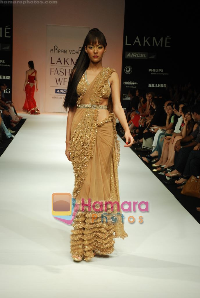 Model walks the ramp for Arpan Vohra Show at Lakme Winter fashion week day 3 on 19th Sept 2010