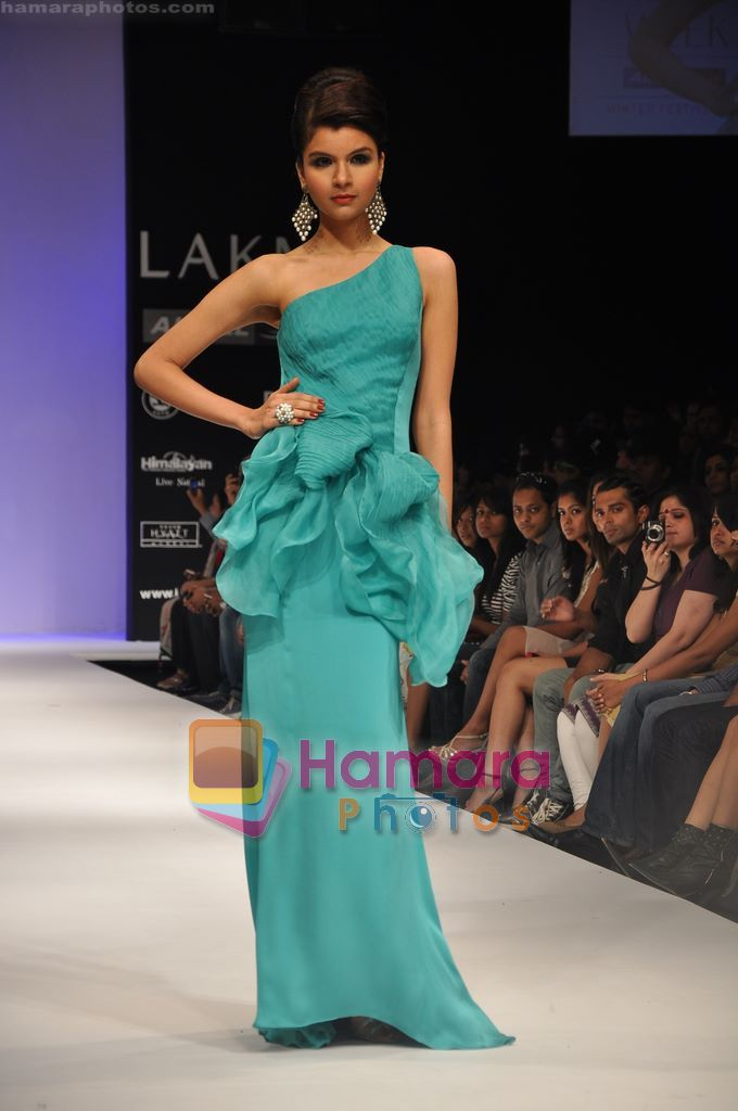 Model walks the ramp for Rajat Tangri Show at Lakme Winter fashion week day 3 on 19th Sept 2010
