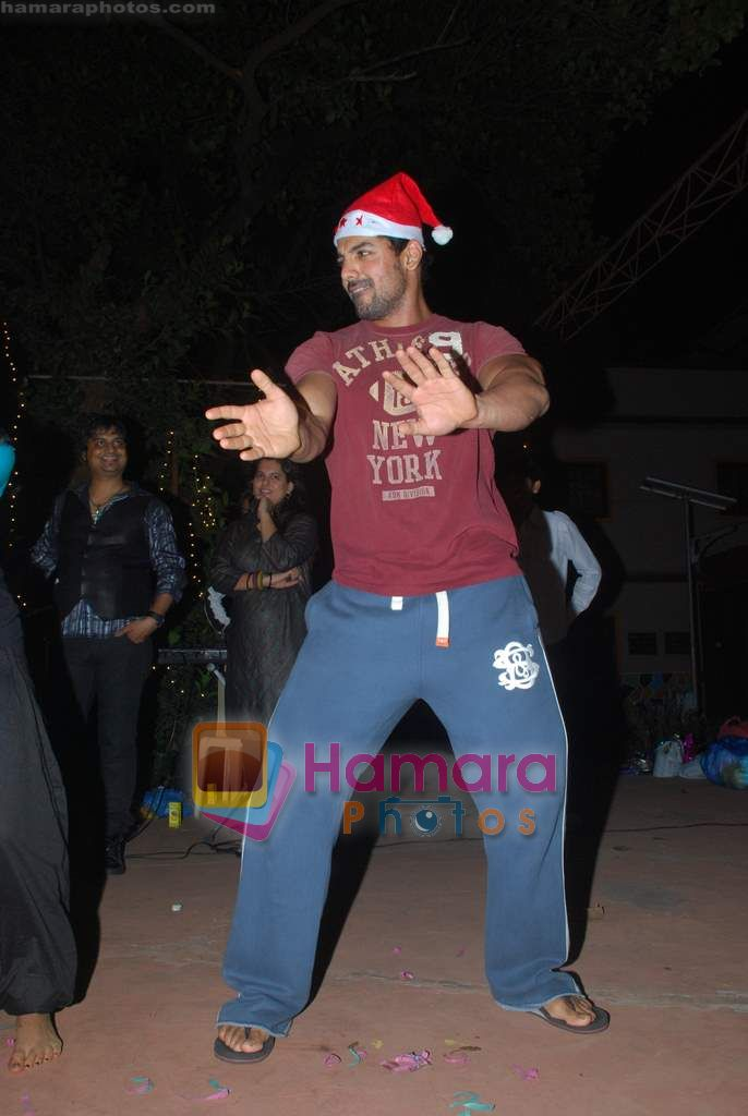 John Abraham spend christmas with children of St Catherines in Andheri on 25th Dec 2010