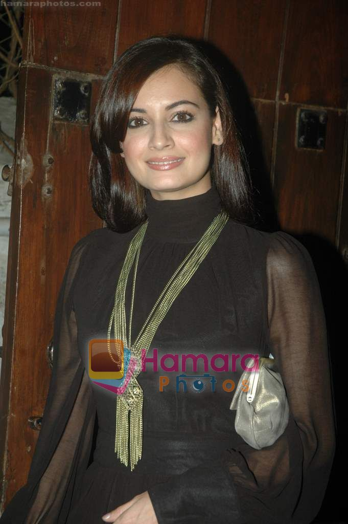 Dia Mirza at Farah Ali Khan's bday bash in Juhu on 27th Dec 2010