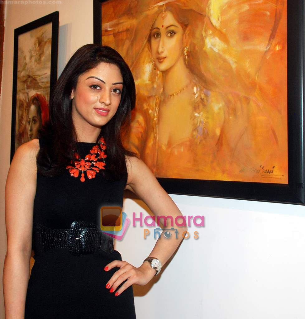 Sandeepa Dhar at Prithvi Soni art exhibition in Kala Ghoda on 27th Dec 2010
