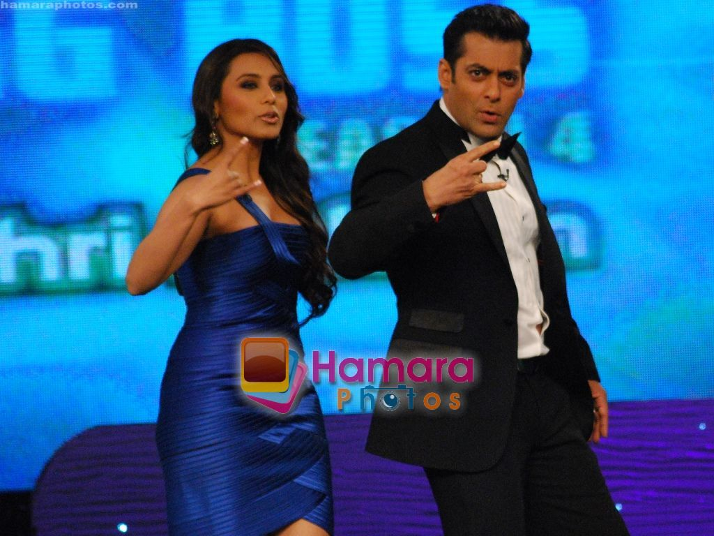 Rani and Salman on the sets of Big Boss on 27th Dec 2010