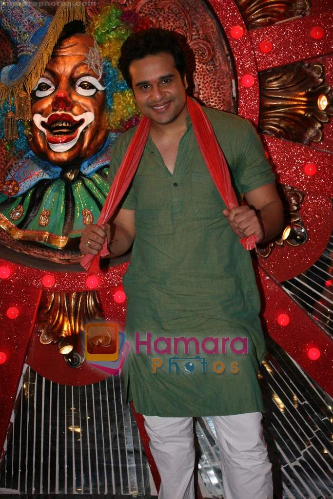 Krushna at Comedy Circus new season on location in Andheri on 28th Dec 2010