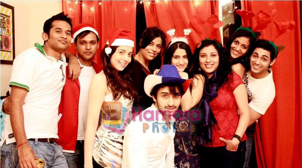 alekh, Jhanvi, Shaheer, Smilie and Ruslaan Mumtaj with friends at Smilie Suri's Christmas Party in Shaheer Sheikh�s Place on 30th Dec 2010