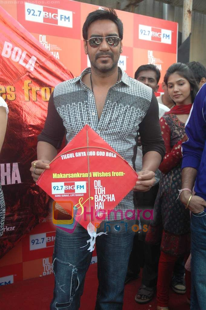 Ajay Devgan at Dil to Baccha Hai Ji kite flying event in Big FM, Andheri on 12th Jan 2011