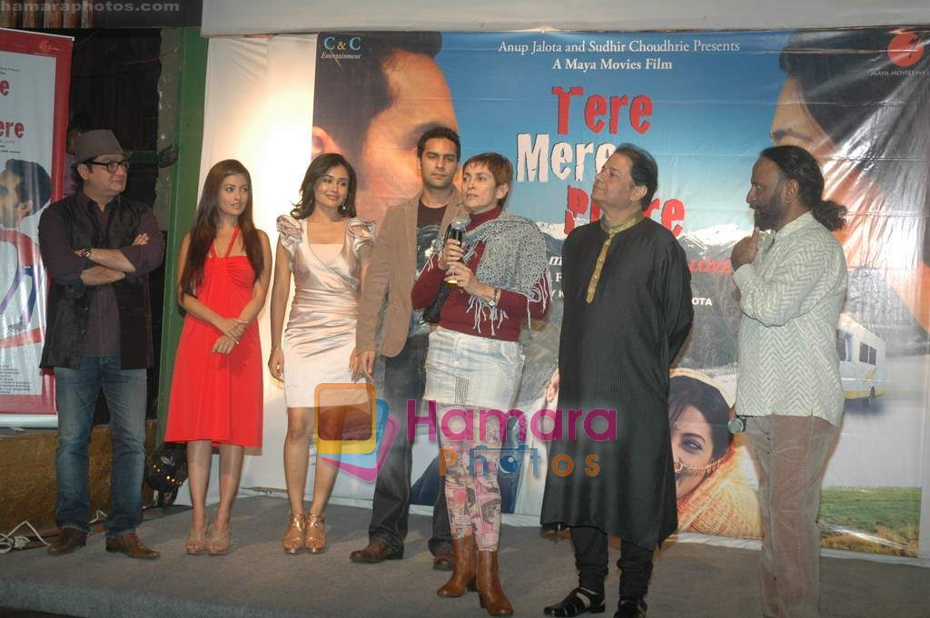 Vinay Pathak, Riya Sen, Sasha Goradia, Jagrat Desai, Deepa Sahi, Anup Jalota at Tere Mere Phere film launch in Dockyard on 12th Jan 2011 ~1