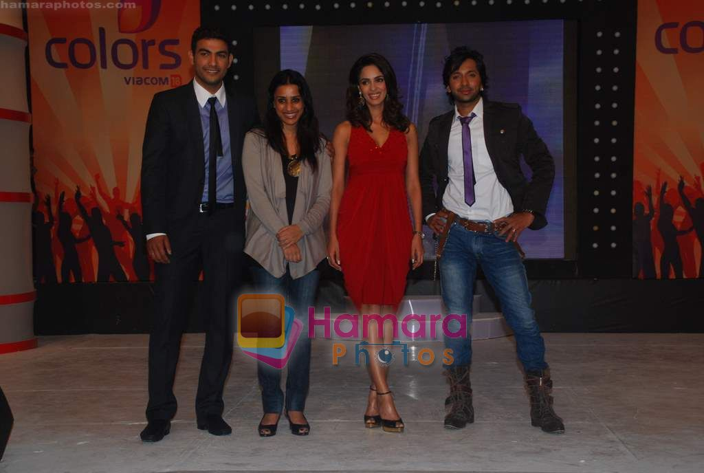 Pravesh Rana, Mallika Sherawat, Terrence Lewis at Chak Dhom Dhoom Season 2 press meet in Taj Land's End on 12th Jan 2011