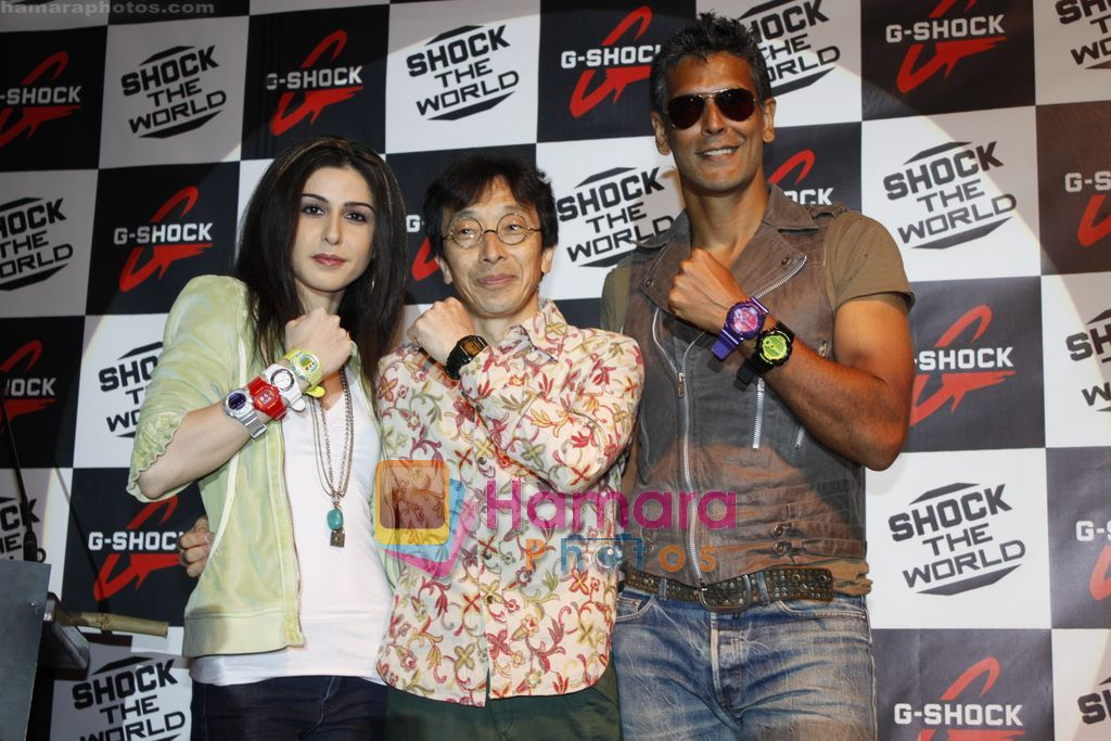 Milind Soman unveils latest G-shock watch in Taj, Colaba, Mumbai on 12th Jan 2011
