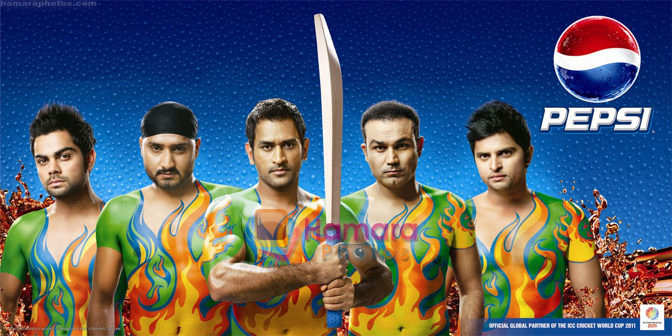 Pepsi World Cup, Cricketers body paint