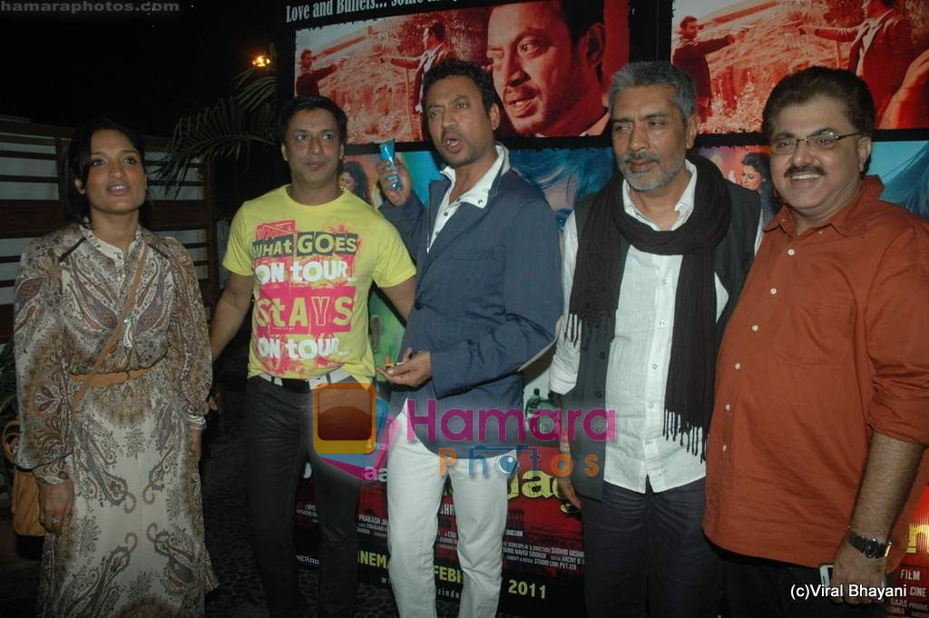 Irrfan Khan, Madhur Bhandarkar, Prakash Jha at Yeh Saali Zindagi music launch in Marimba Lounge on 13th Jan 2011