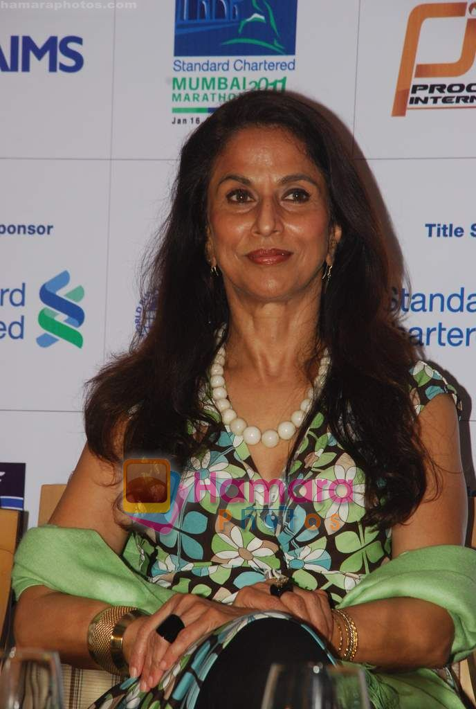Shobha De promote Mumbai Marathon in Trident on 13th Jan 2011