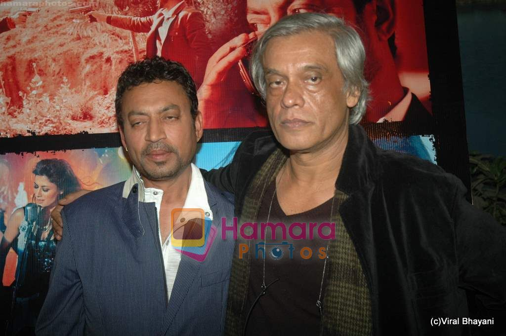 Irrfan Khan, Sudhir Mishra at Yeh Saali Zindagi music launch in Marimba Lounge on 13th Jan 2011
