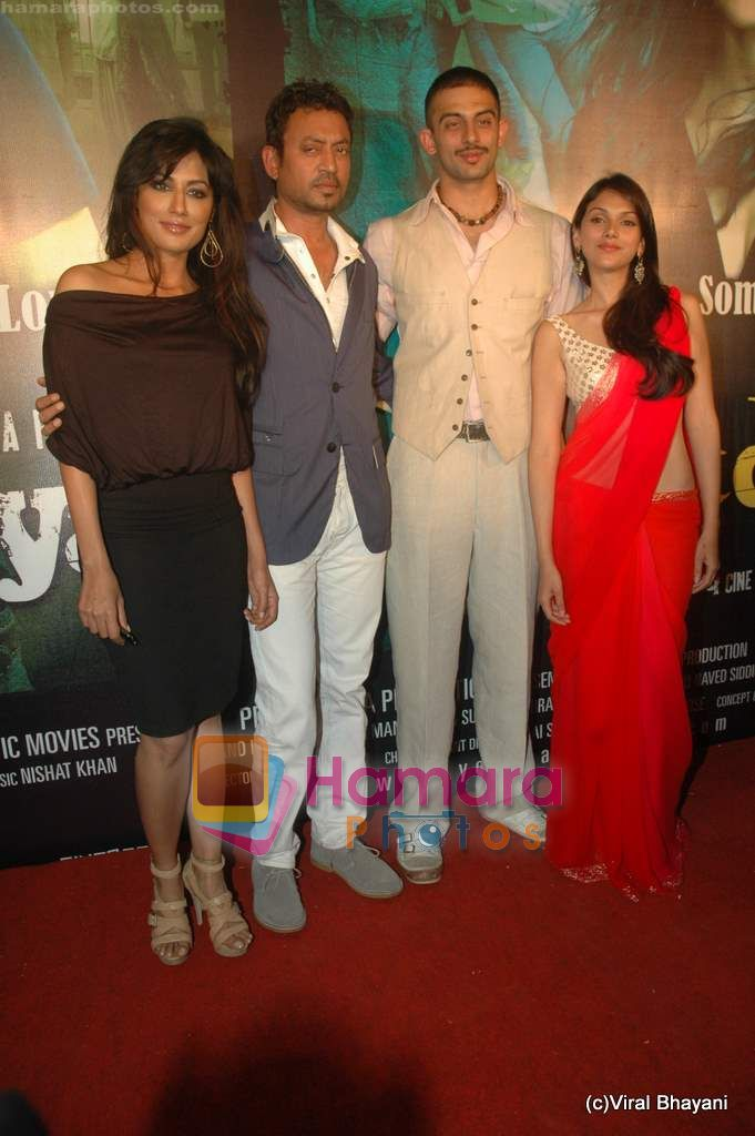 Chitrangda Singh, Irrfan Khan, Arunoday Singh, Aditi Rao Hydari at Yeh Saali Zindagi music launch in Marimba Lounge on 13th Jan 2011