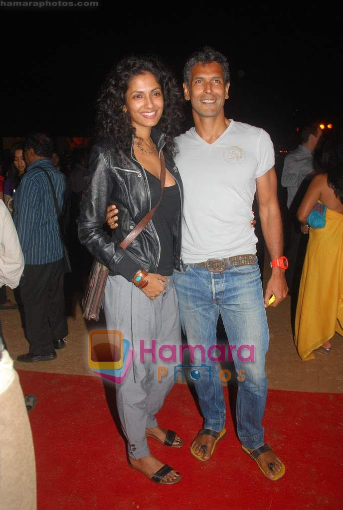 Milind Soman at Day 1 of Chivas Studiio in Mahalaxmi Race Course on 14th Jan 2011